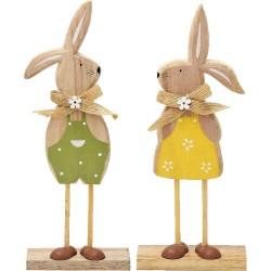 Veľkonočné zajačiky z dreva