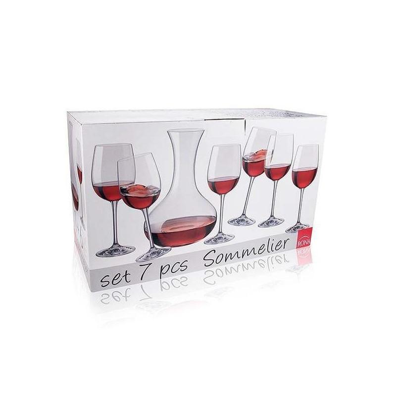 SOMMELIER - sedemdielna kryštálová sada na víno