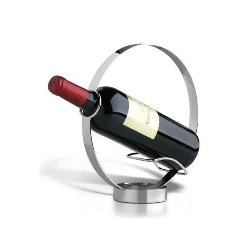 Okrúhly držiak na víno nerezový
