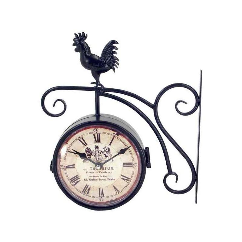 Obojstrané hodiny s kohútom do exteriéru