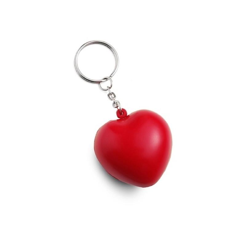 Červený antistresový prívesok na kľúče