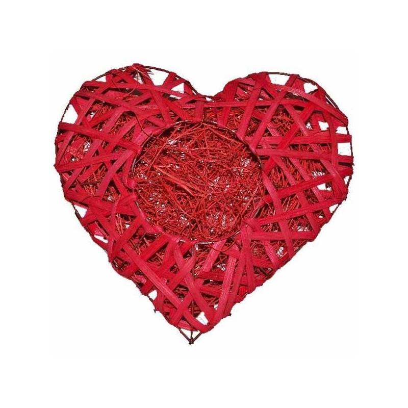 Ratanové srdce červené