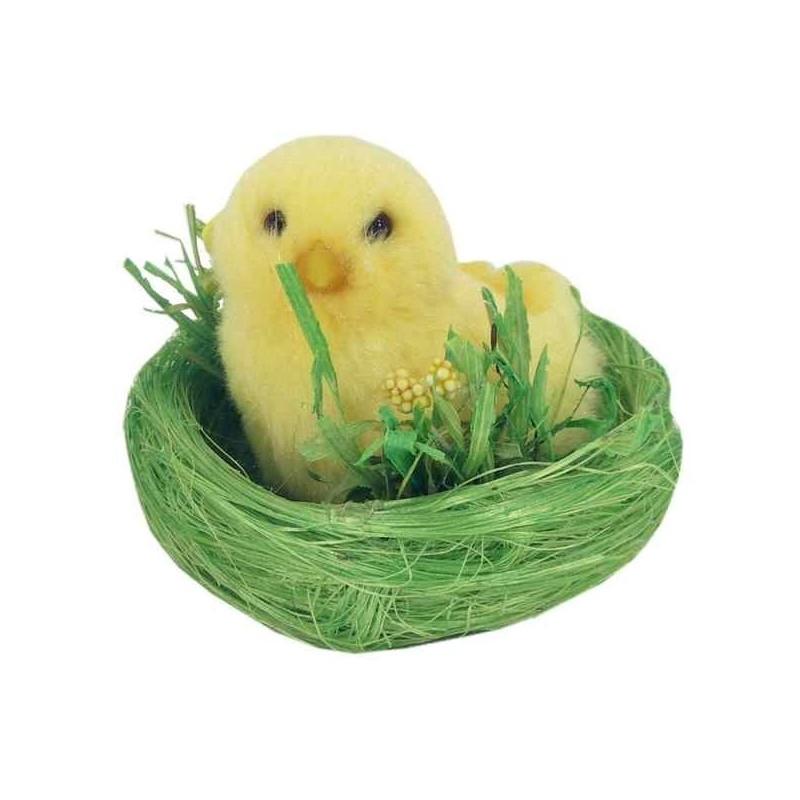 Žlté kuriatko v hniezde