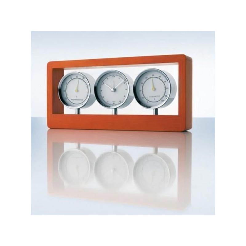 Ultra moderné hodiny do bytu drevo, chróm