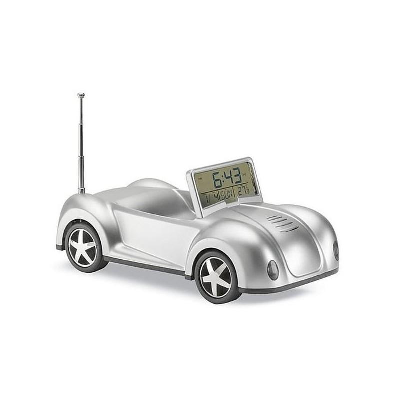 Rádio z hodinami v tvare cabrio