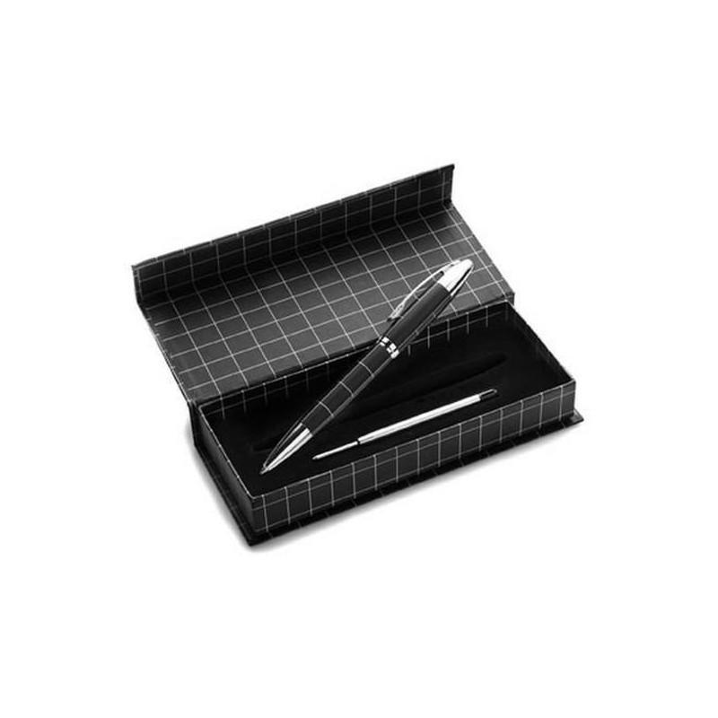 Kovové guľôčkové pero s náhradnou náplňou v darčekovej krabičke
