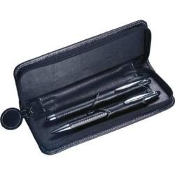 Guľôčkové pero a plniace pero v koženom obale