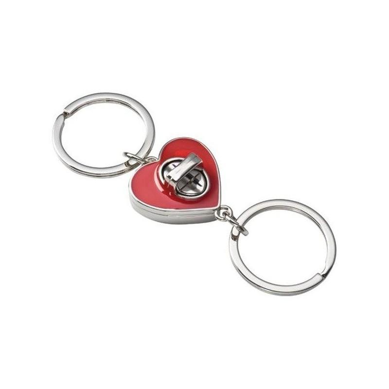 Prívesok na kľúče dve srdcia