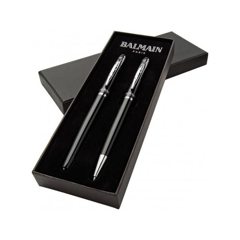 Čierne luxusné pero a roller Balmain
