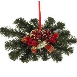 Červená vianočná dekorácia