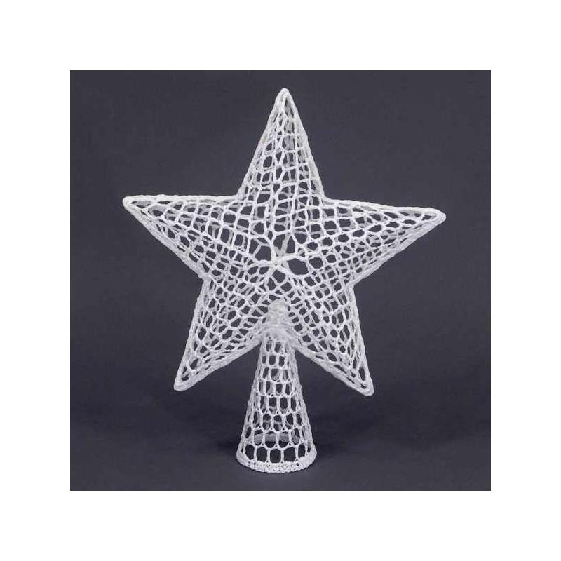 Háčkovaná hviezda - hrot na stromček