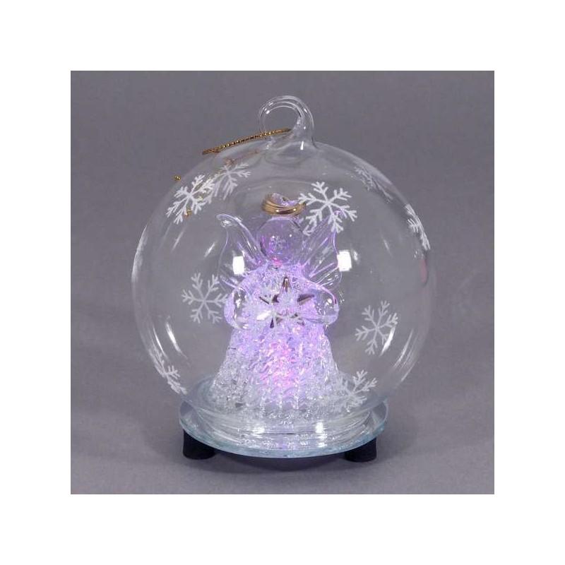 Vianočná svietiaca guľa Angel 7 cm
