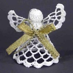 Háčkovaný anjel s mašľou