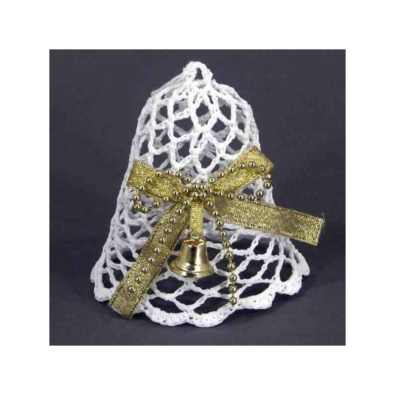 Háčkovaný zvonček s mašľou