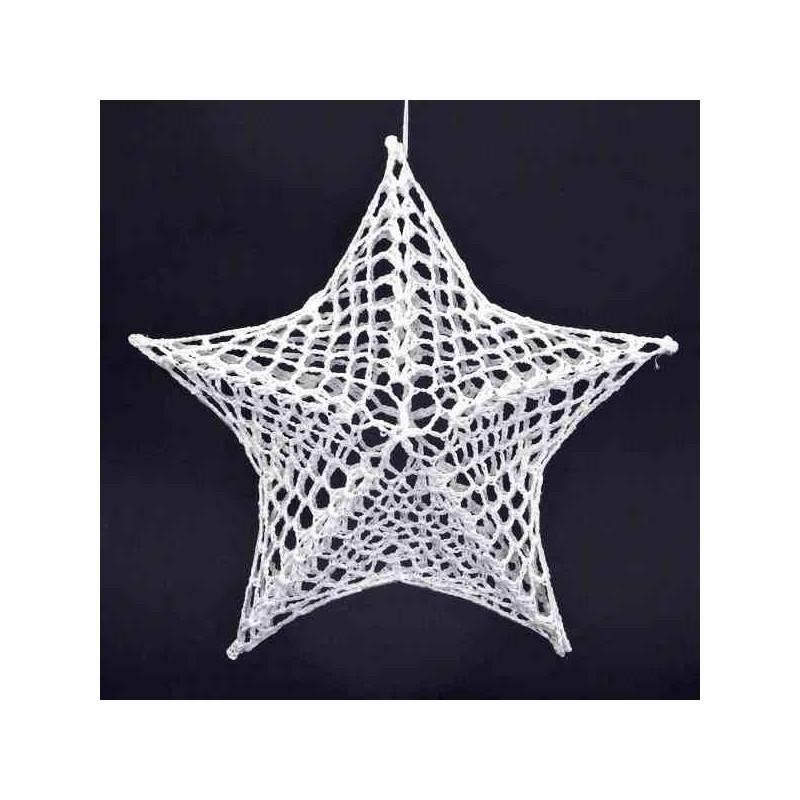 Veľká vianočná hviezda na stromček 24 cm