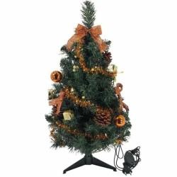 Zdobený stromček s LED svetielkami - medený