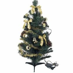 Zdobený vianočný stromček s LED osvetlením