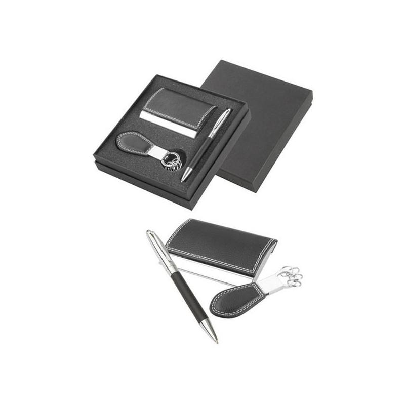Vizitkár, kľúčenka a pero v luxusnom darčekovom obale