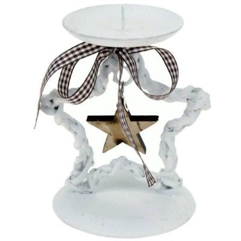 Vianočný svietnik na jednu sviečku - hviezdička