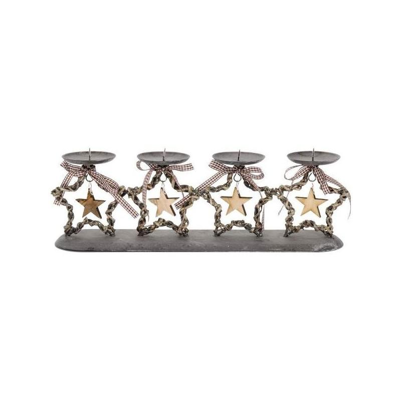 Adventný svietnik hviezdy - 44 x 11 x 15cm