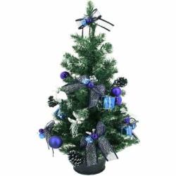 Vysoký zdobený stromček - modrý 75 cm