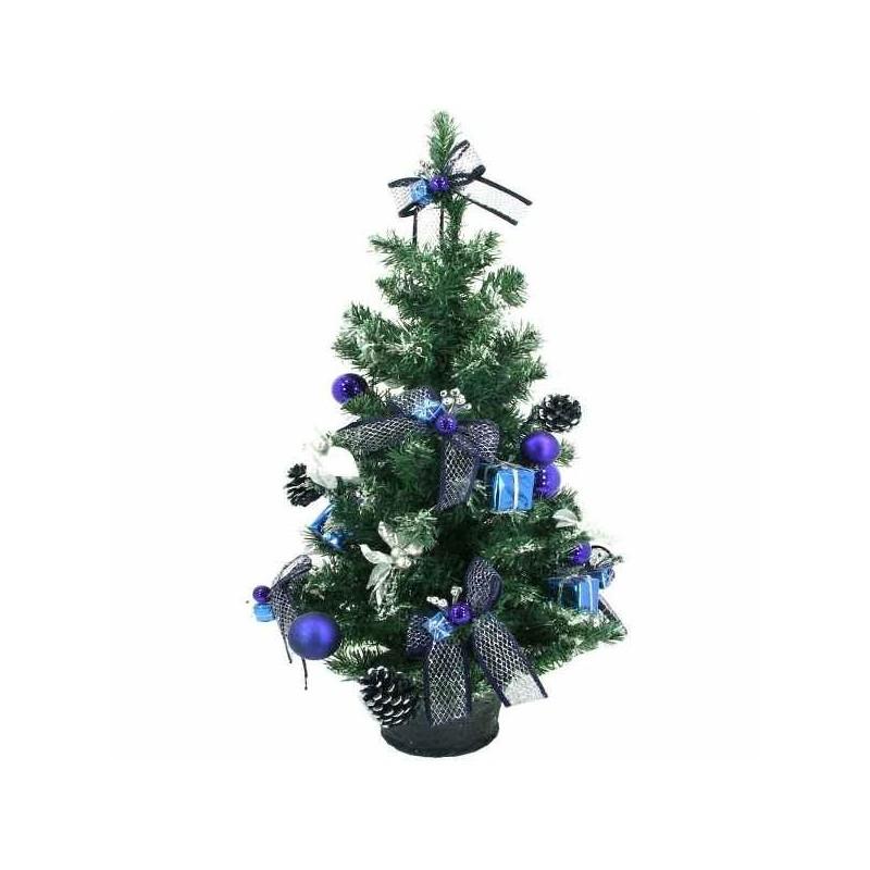 Zdobený vianočný stromček v kvetináči 90 cm