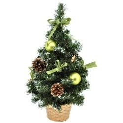 Umelý zdobený vianočný stromček - zelený 40 cm