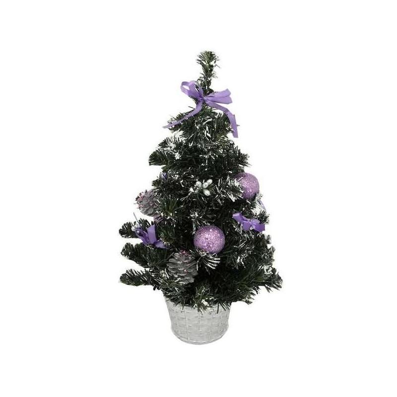 Fialový vianočný stromček 40 cm