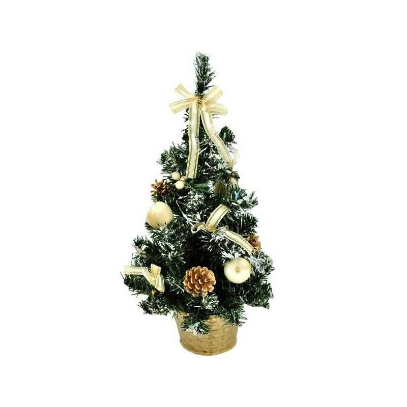 Krémový vianočný stromček zdobený 40 cm