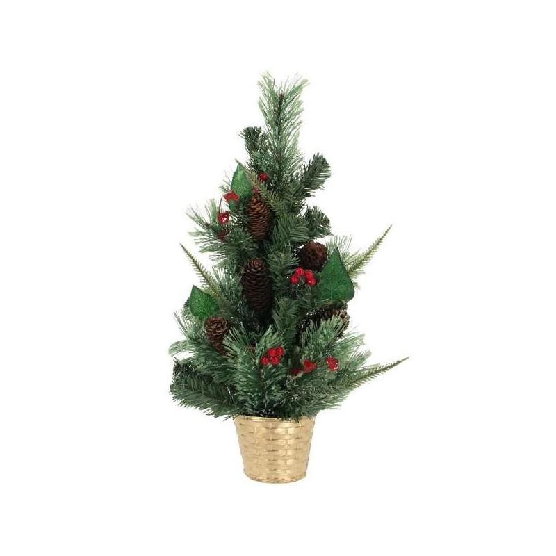 Vianočný ozdobený stromček závesný 50 cm