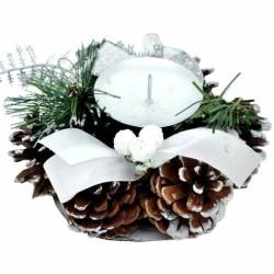 Svietnik na vianoce - biela farba
