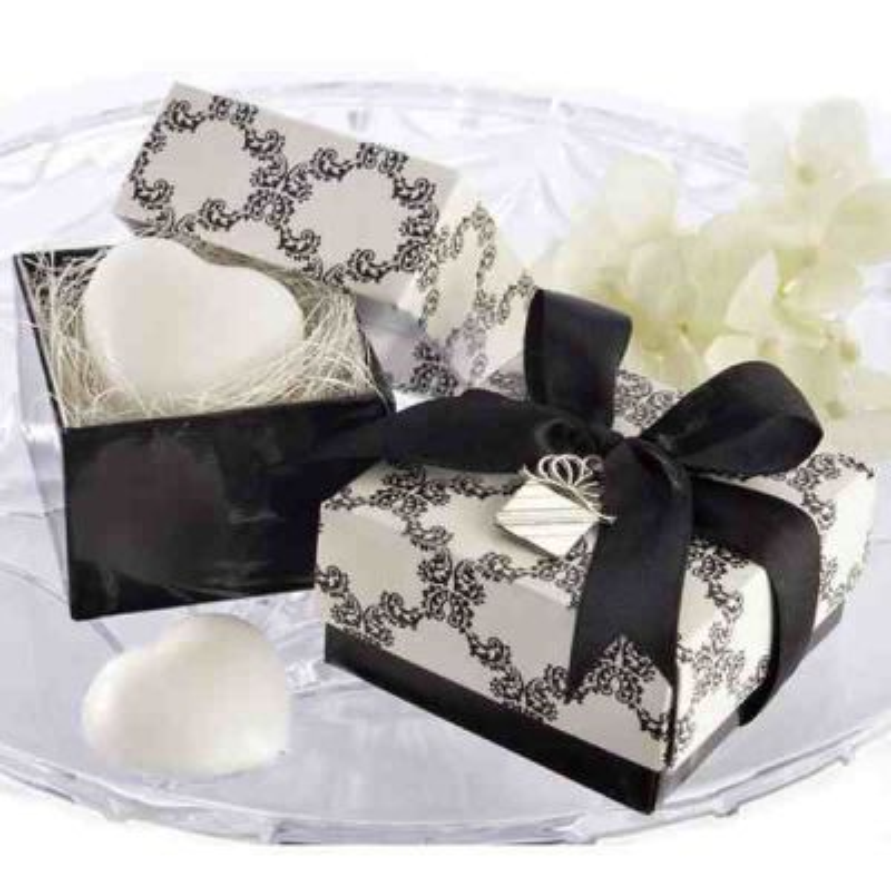 Srdiečko mydlo v darčekovej krabičke