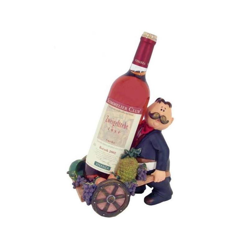Dekoračný stojan na víno čašník s vozíkom