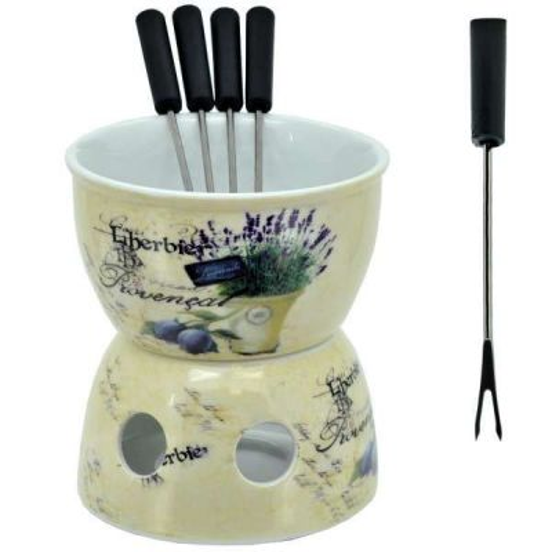 Krásne romantické fondue s kvetmi