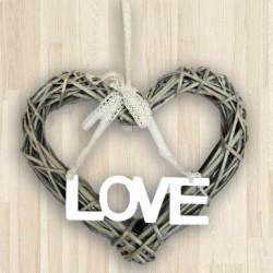 Srdiečko s nápisom LOVE
