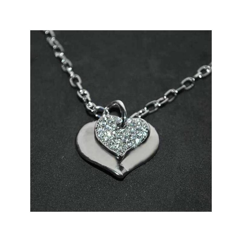Náhrdelník na Valentína - dve srdcia