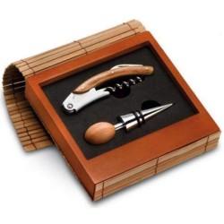 Darčekový set na víno v bambusovej krabičke