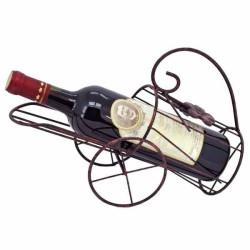 Kovový stojan na víno s kolesami