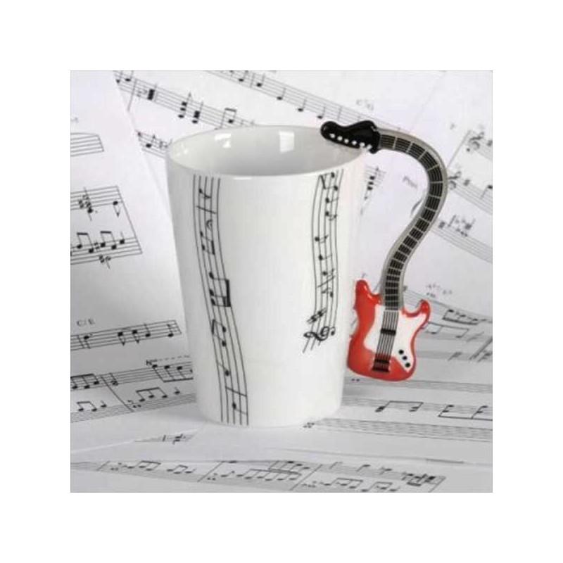 Krásny hrnček červená gitara