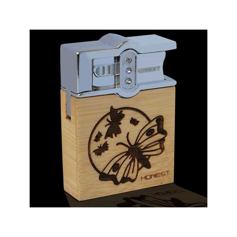 Drevený zapaľovač HONEST motýle
