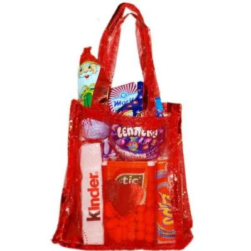 Mikulášsky balíček v červenej taške