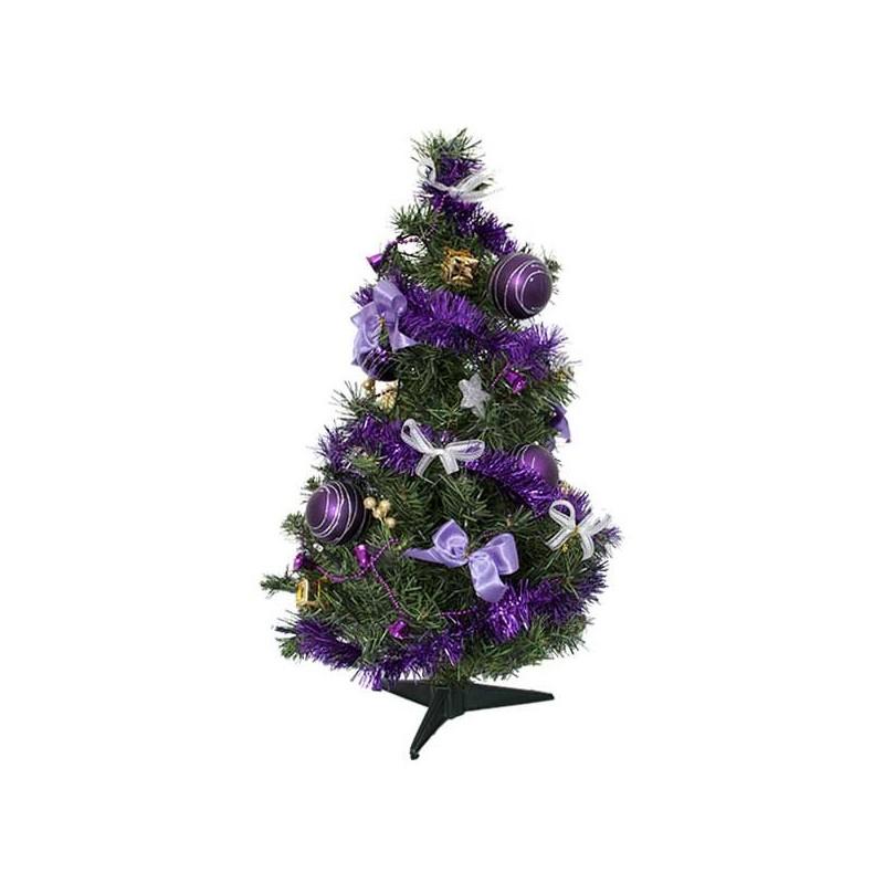 Viac farebný zdobený vianočný stromček s LED 60 cm