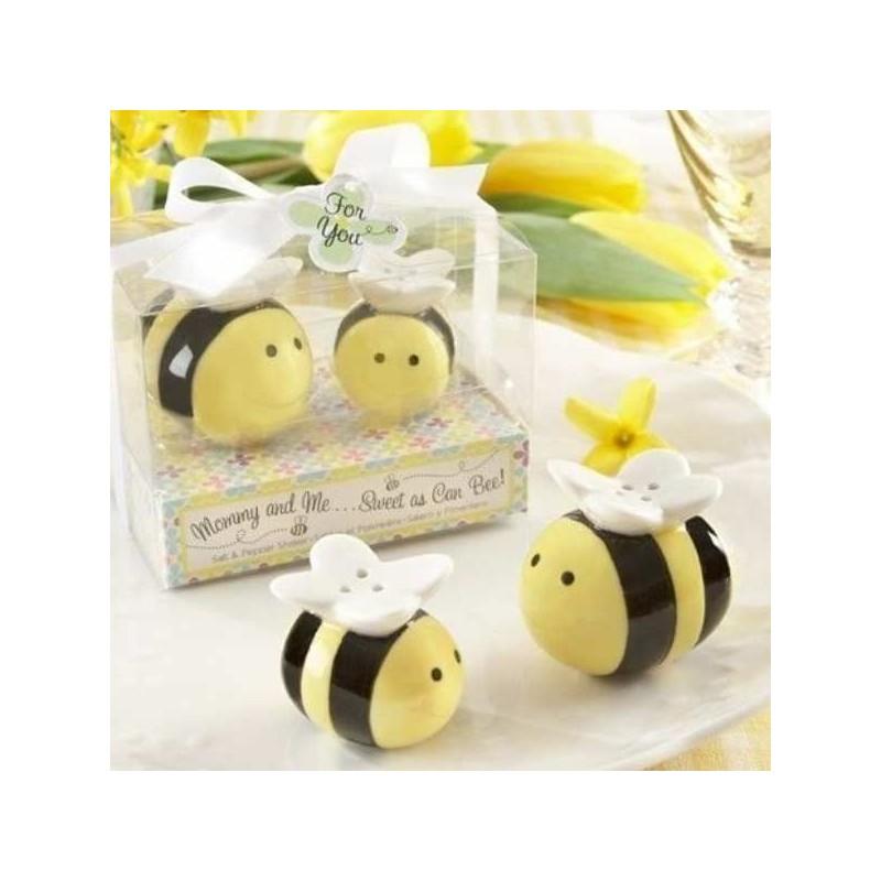 Včielky - soľnička s koreničkou pre včelárov