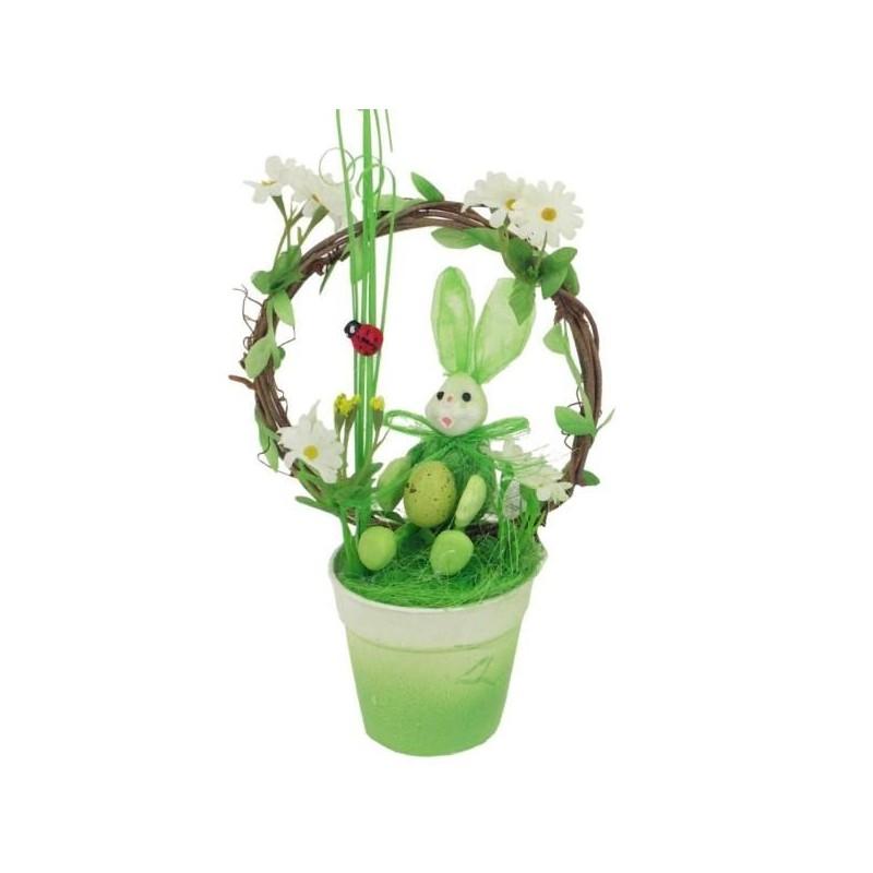 Veľkonočný zajačik v kvetináčií - dekorácia