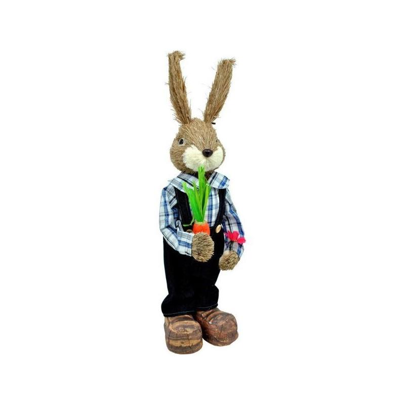 Veľký zajko s mrkvičkou 61 cm
