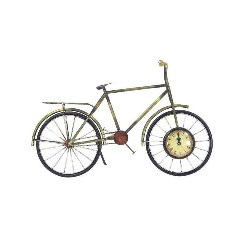 Kovový bicykel s hodinami