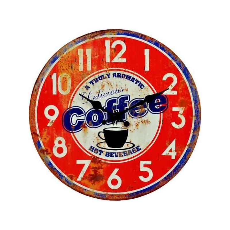 Hodiny do kuchyne s motívom kávy