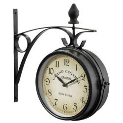 Staničné hodiny na stenu obojstranné