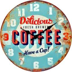 Retro hodiny motív kávy