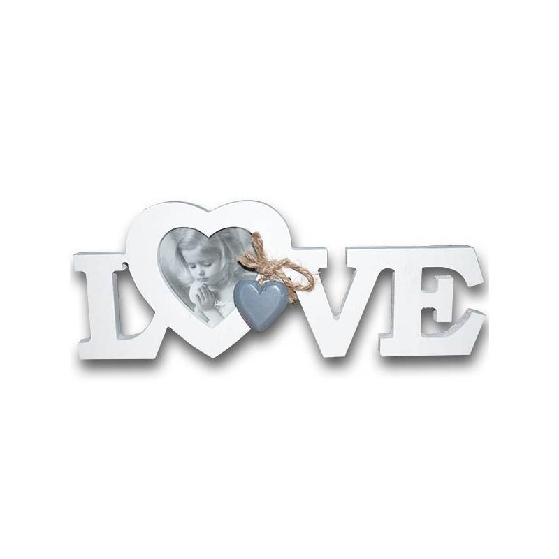 Romantický fotorámček so srdiečkom LOVE